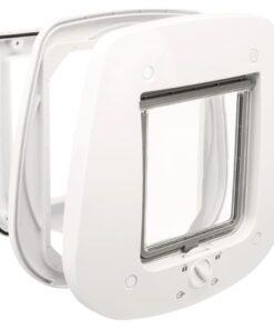 TRIXIE 4-vejs kattelem til glasdøre 27 x 27 cm hvid