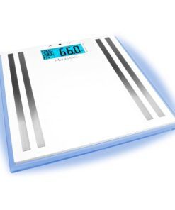 Medisana ISA kropsanalysevægt i glas, LCD