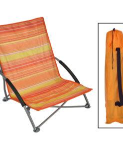 HI foldbar strandstol 65x55x25/65 cm orange