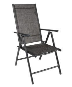 HI havelænestol i aluminium grå