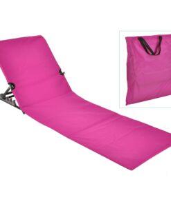 HI foldbar strandmåttestol PVC pink