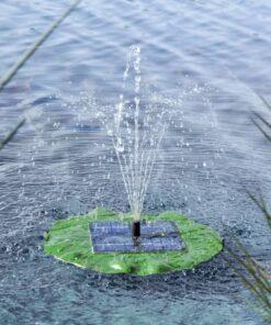 HI soldrevet flydende fontænepumpe lotusblad