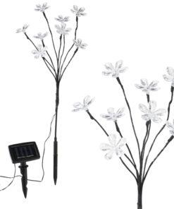 HI soldrevne blomsterlamper 2 stk. 8 pærer