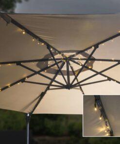 HI soldrevet parasollyskæde LED 130 cm
