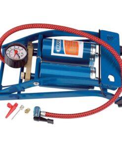 Draper Tools dobbeltcylinderfodpumpe blå 25996