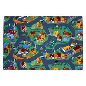 AK Sports legetæppe by med gader 140 x 200 cm 0309004