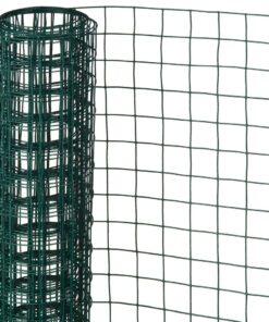 Nature firkantet trådnet 0,5 x 5 m 13 mm plastbelagt stål grøn
