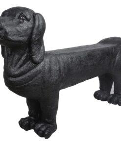 Esschert Design stenhavebænk gravhund sort AV12