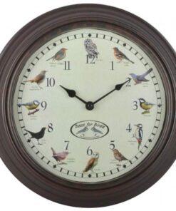 Esschert Design ur med fuglelyde
