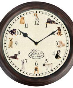 Esschert Design ur med hundelyde