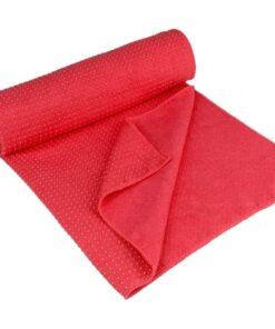 Avento yogahåndklæde Aura skridsikkert pink