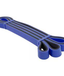 Avento træningselastik latex tung blå og sort