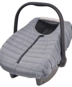 vidaXL babyautostols-/bilsædebetræk 57 x 43 cm grå