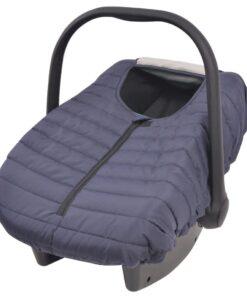 vidaXL babyautostols-/bilsædebetræk 57 x 43 cm marineblå