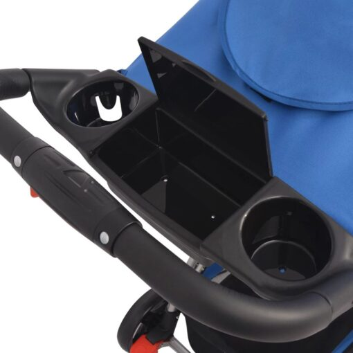 vidaXL blå klapvogn 102x52x100 cm