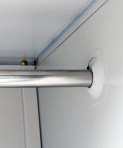 vidaXL skab med 3 rum i stål 90 x 45 x 180 cm grå