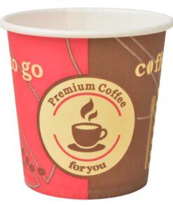 vidaXL engangskaffekrus 1000 stk. papir 120 ml (4 oz)