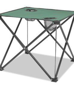 vidaXL foldbart campingmøbelsæt i 5 dele grøn stål 45 x 45 x 70 cm