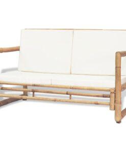 vidaXL 2-personers havesofa med hynder bambus