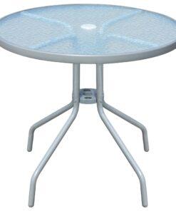 vidaXL cafébord 80 x 71 cm grå stål