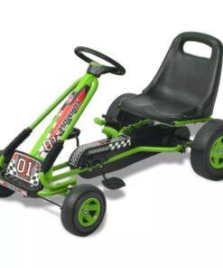 vidaXL pedal-gokart med justerbart sæde grøn