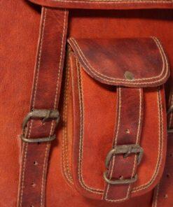 """vidaXL skuldertaske ægte læder brun til 7"""" bærbar"""