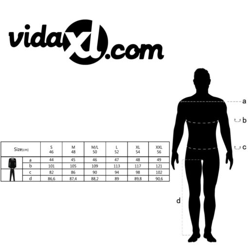 vidaXL jakkesæt til mænd kongeblå str. 54