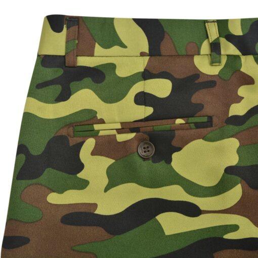 vidaXL jakkesæt og slips til mænd kamuflage str. 50