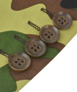 vidaXL jakkesæt og slips til mænd kamuflage str. 52
