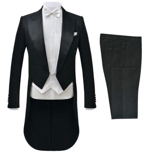 vidaXL gallatøj kjole og hvidt til mænd sort str. 48
