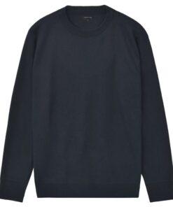 vidaXL pulloversweater til mænd rund hals marineblå M