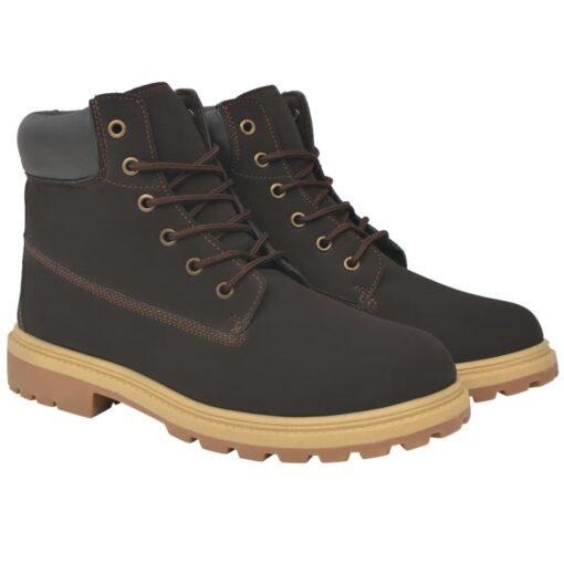vidaXL herrestøvler brun størrelse 41