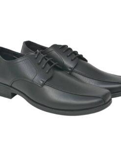 vidaXL herre-business snøresko sort størrelse 41 PU-læder