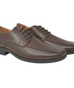 vidaXL herre business snøresko brun størrelse 40 PU-læder