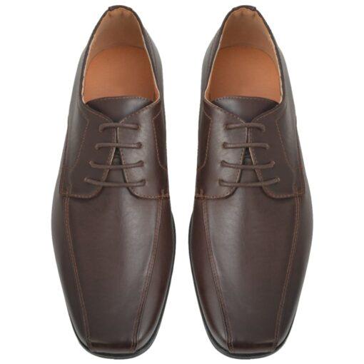 vidaXL businesssnøresko til herrer brun størrelse 41 PU-læder