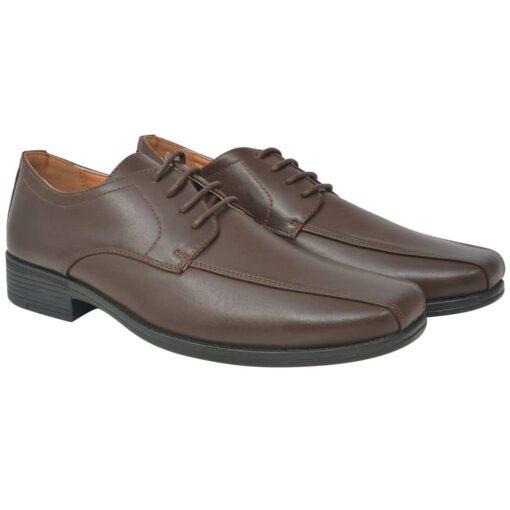 vidaXL herre business snøresko brun størrelse 42 PU-læder