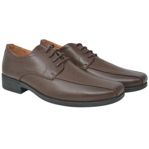 vidaXL herre-business snøresko brun størrelse 44 PU-læder