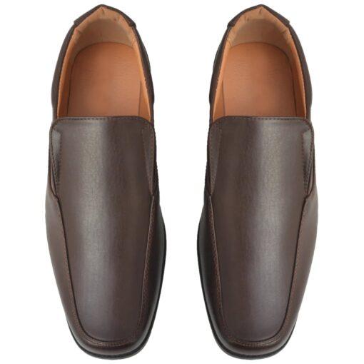 vidaXL hyttesko/loafers til herrer størrelse 41 PU-læder brun