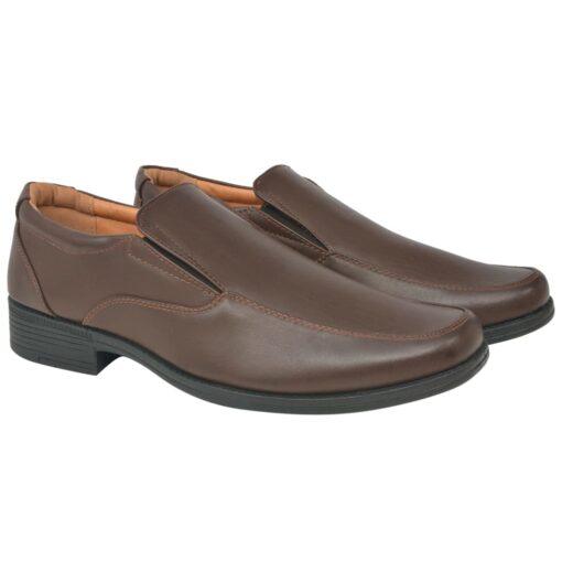 vidaXL hyttesko/loafers til herrer størrelse 43 PU-læder brun