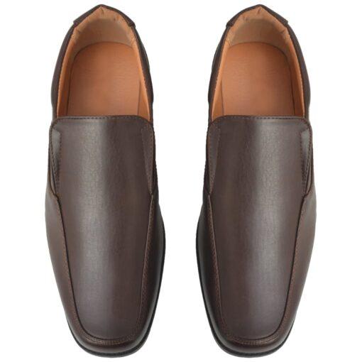 vidaXL hyttesko/loafers til herrer størrelse 45 PU-læder brun