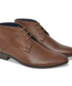 vidaXL snøresko til herrer størrelse 41 PU-læder brun