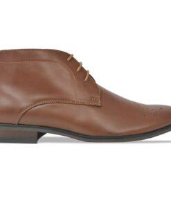 vidaXL snøresko til herrer størrelse 43 PU-læder brun