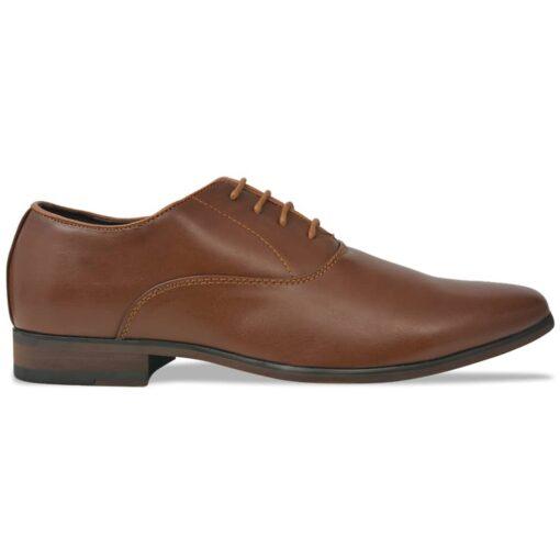 vidaXL herre business snøresko brun størrelse 41 PU-læder