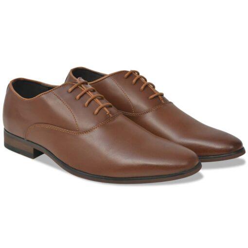 vidaXL business herre-snøresko brun størrelse 42 PU-læder