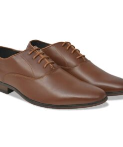 vidaXL business herre-snøresko brun størrelse 44 PU-læder
