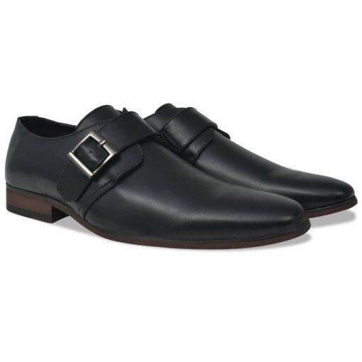 vidaXL herre monksko med spænde sort størrelse 40 PU-læder