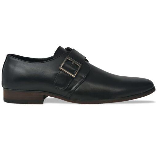 vidaXL herre monksko med spænde sort størrelse 41 PU-læder