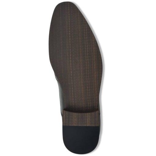vidaXL brogue snøresko til herre sort størrelse 40 PU-læder
