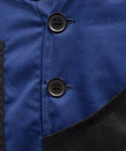 vidaXL Bib overalls til mænd str. XL blå