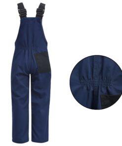VidaXL Bib overall til børn størrelse 110/116 blå